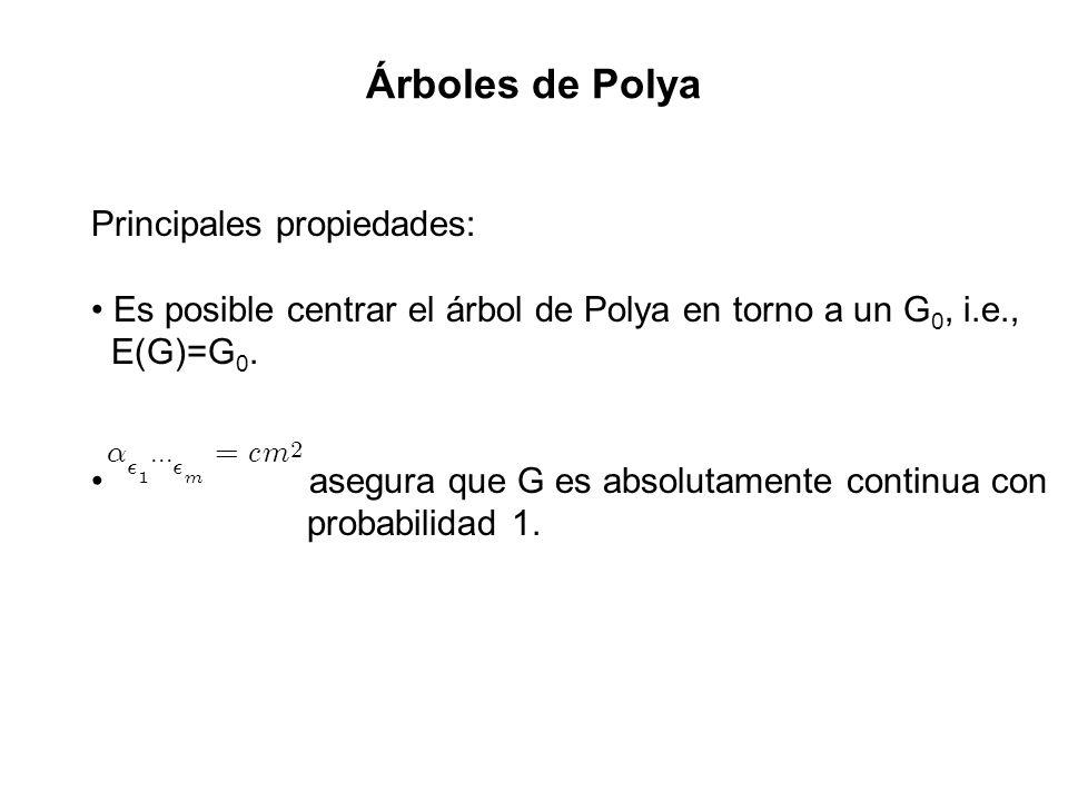 Árboles de Polya Principales propiedades: