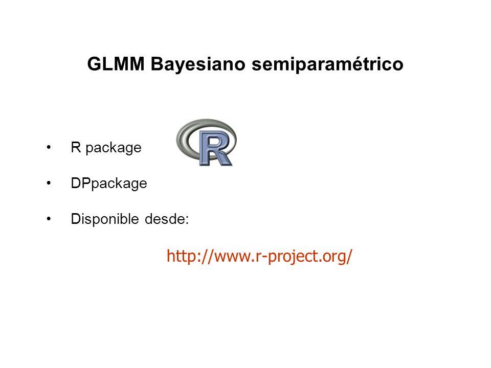 GLMM Bayesiano semiparamétrico