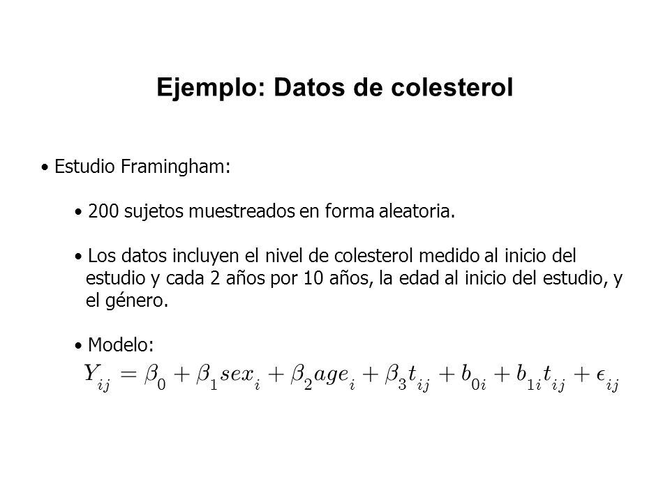 Ejemplo: Datos de colesterol