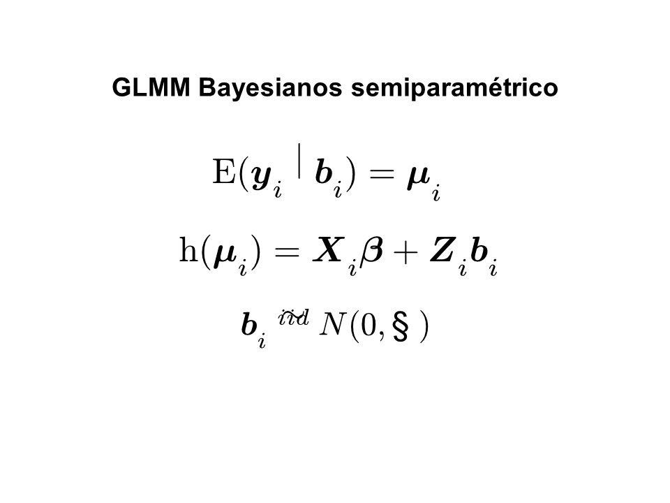 GLMM Bayesianos semiparamétrico
