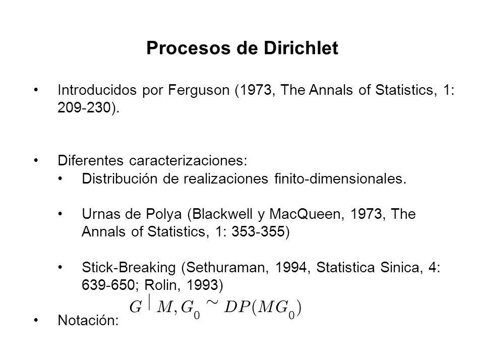 Procesos de Dirichlet G j M ; » D P ( )