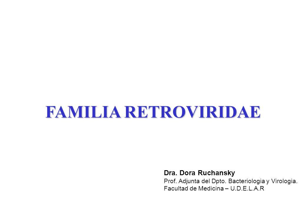 FAMILIA RETROVIRIDAE Dra. Dora Ruchansky