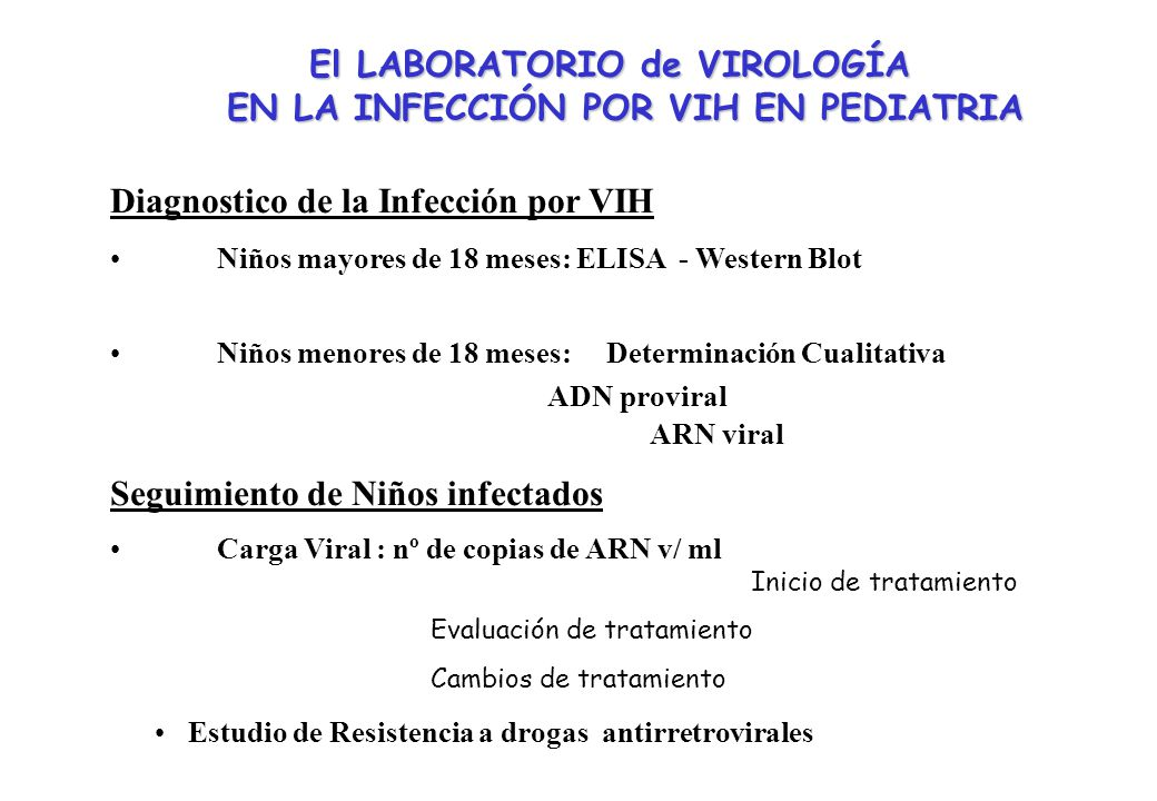El LABORATORIO de VIROLOGÍA EN LA INFECCIÓN POR VIH EN PEDIATRIA