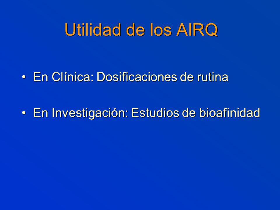 Utilidad de los AIRQ En Clínica: Dosificaciones de rutina
