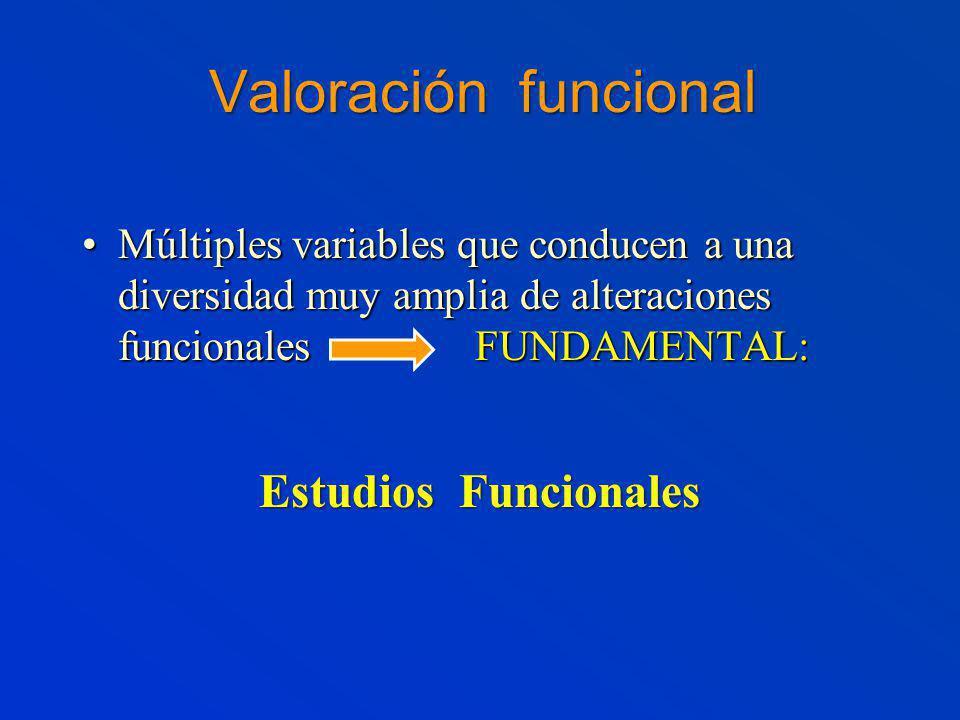 Valoración funcional Estudios Funcionales