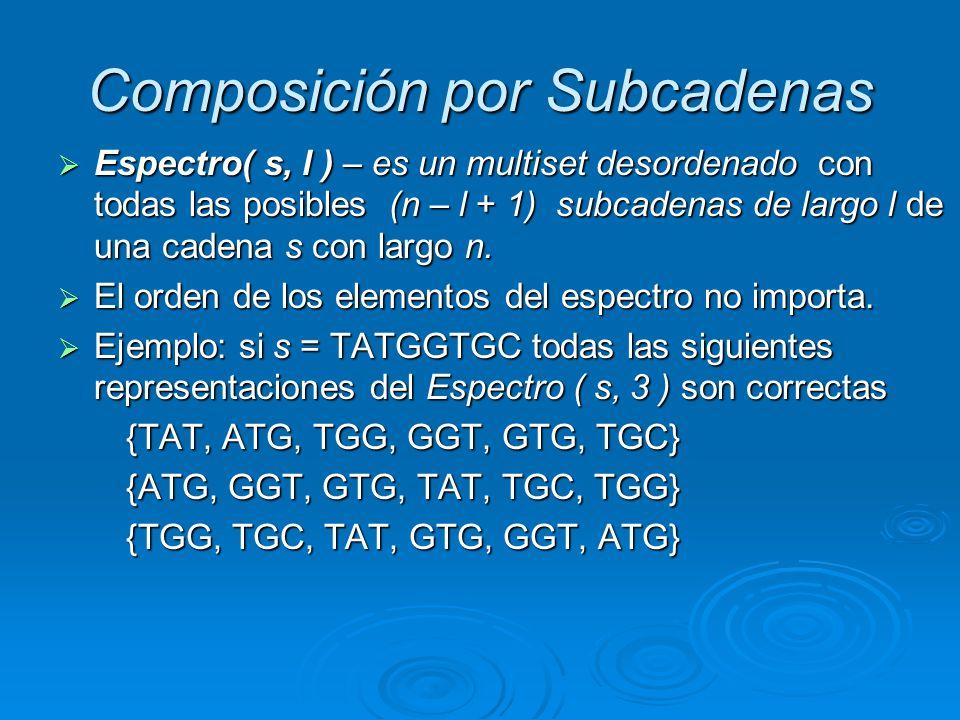 Composición por Subcadenas