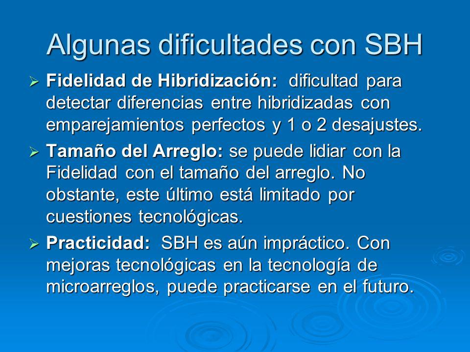 Algunas dificultades con SBH