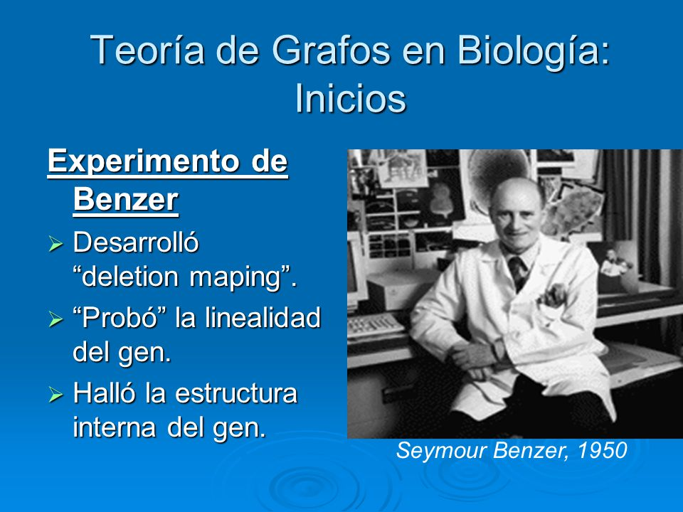 Teoría de Grafos en Biología: Inicios