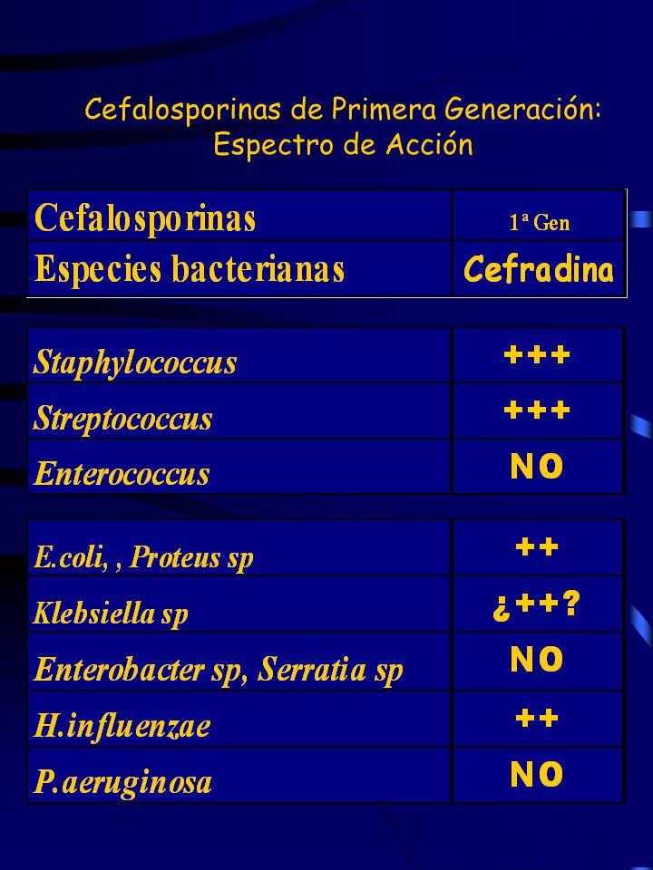 Cefalosporinas de Primera Generación: