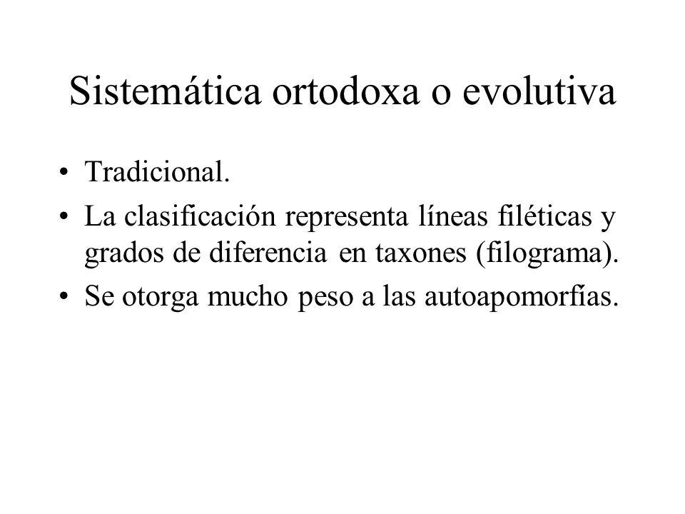 Sistemática ortodoxa o evolutiva
