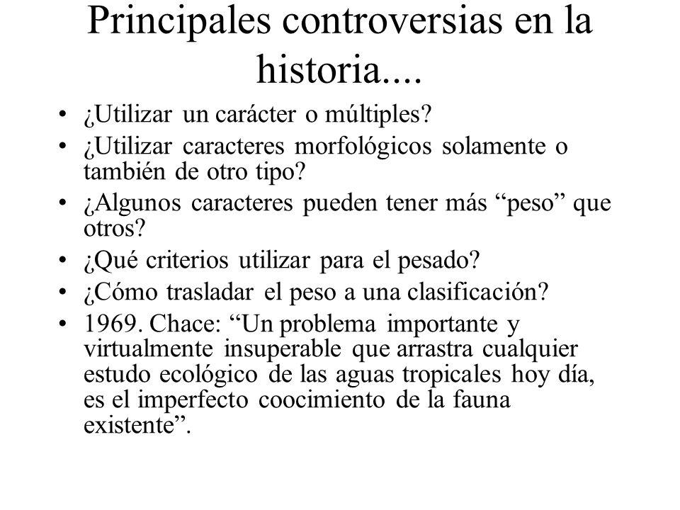 Principales controversias en la historia....