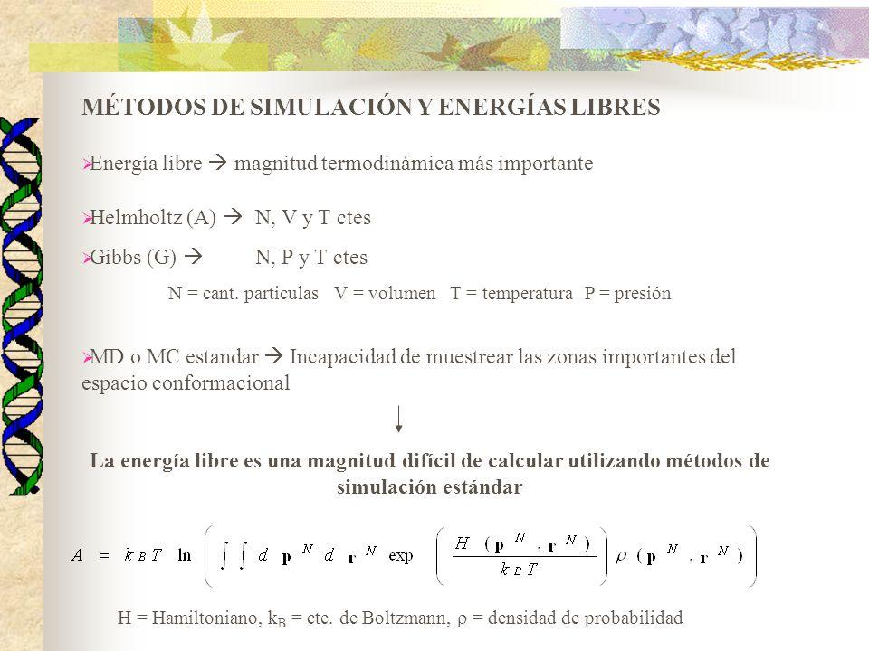 MÉTODOS DE SIMULACIÓN Y ENERGÍAS LIBRES