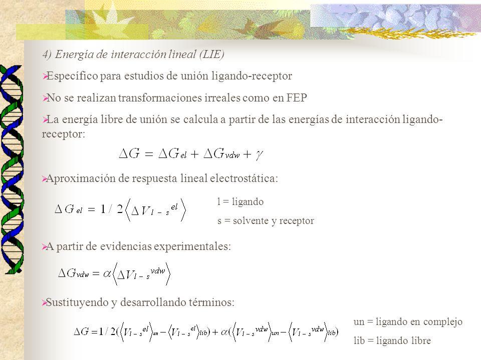 4) Energía de interacción lineal (LIE)