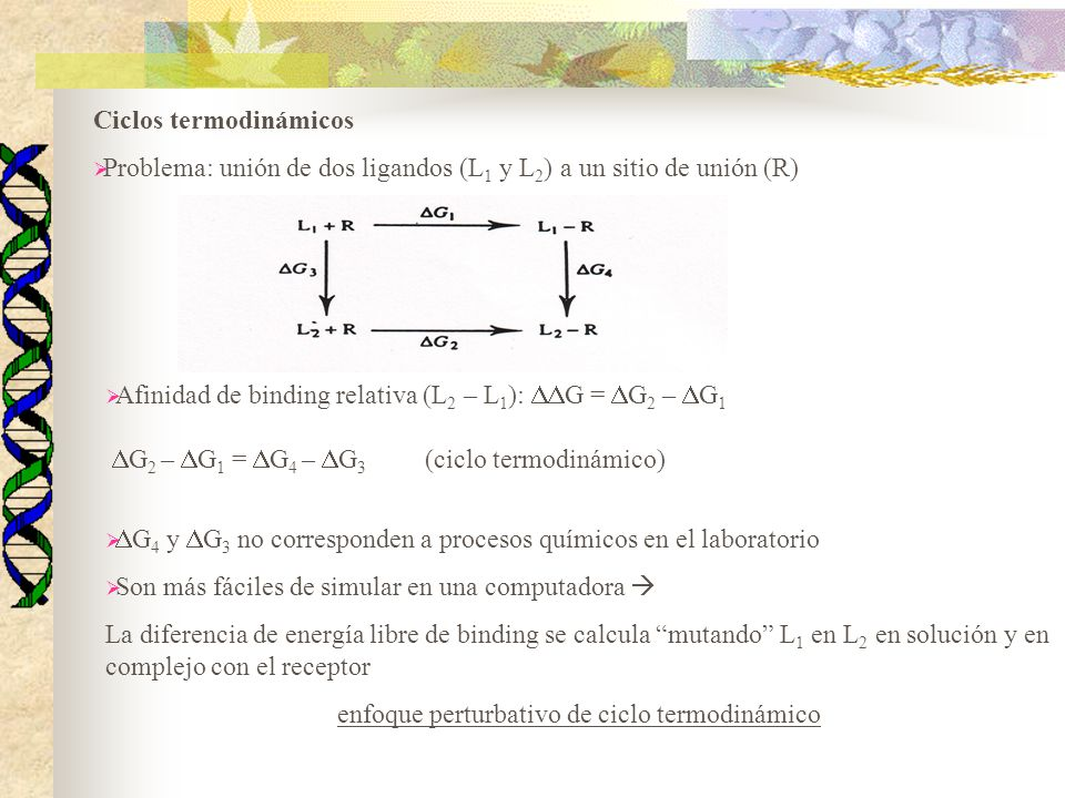 enfoque perturbativo de ciclo termodinámico