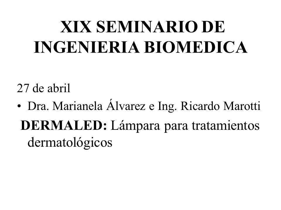 XIX SEMINARIO DE INGENIERIA BIOMEDICA