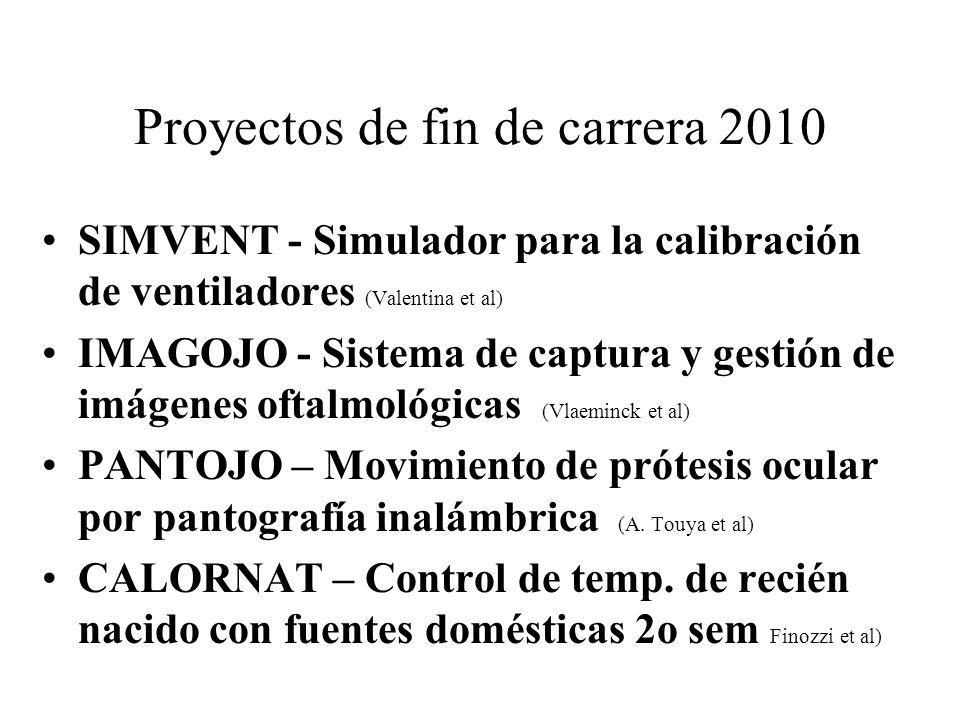 Proyectos de fin de carrera 2010