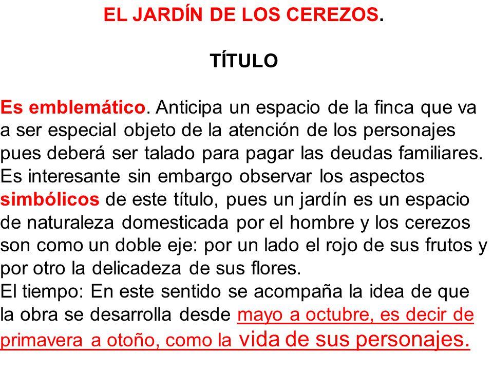 EL JARDÍN DE LOS CEREZOS.