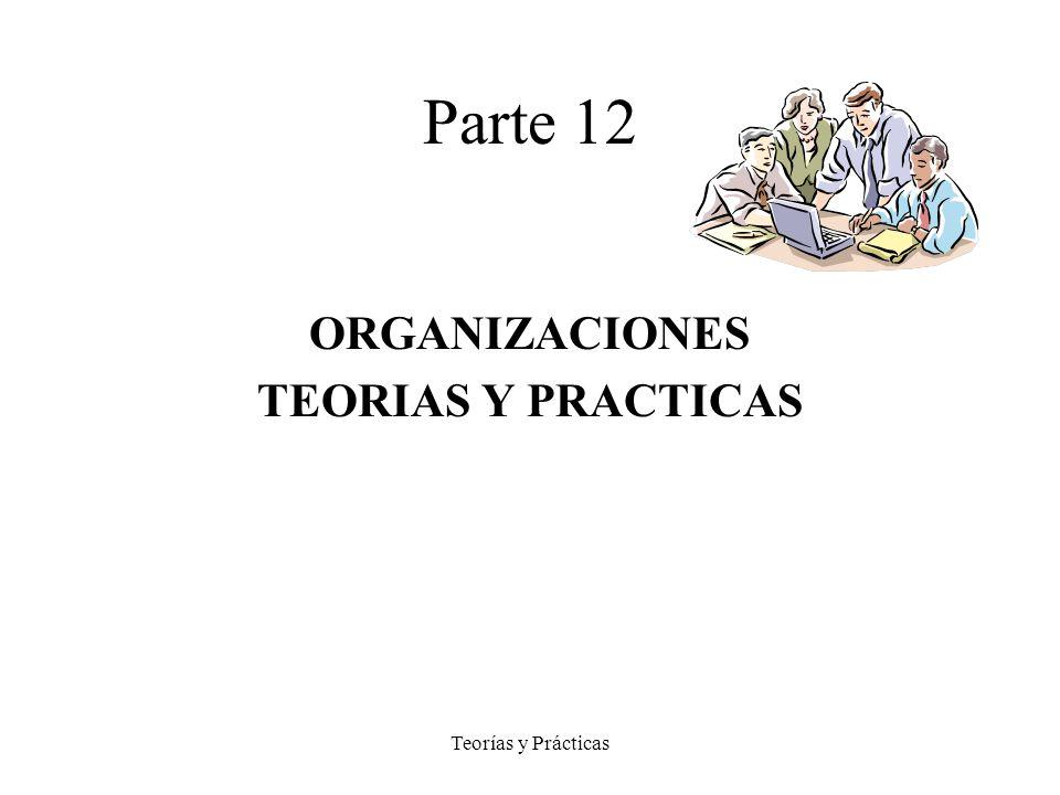 Parte 12 ORGANIZACIONES TEORIAS Y PRACTICAS Teorías y Prácticas