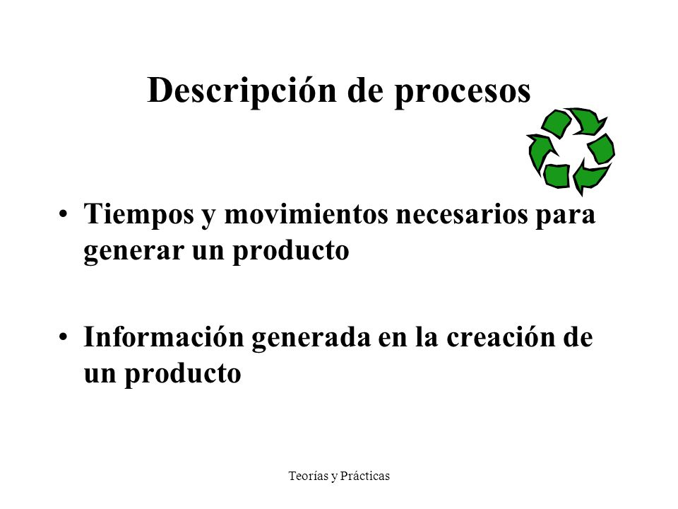 Descripción de procesos