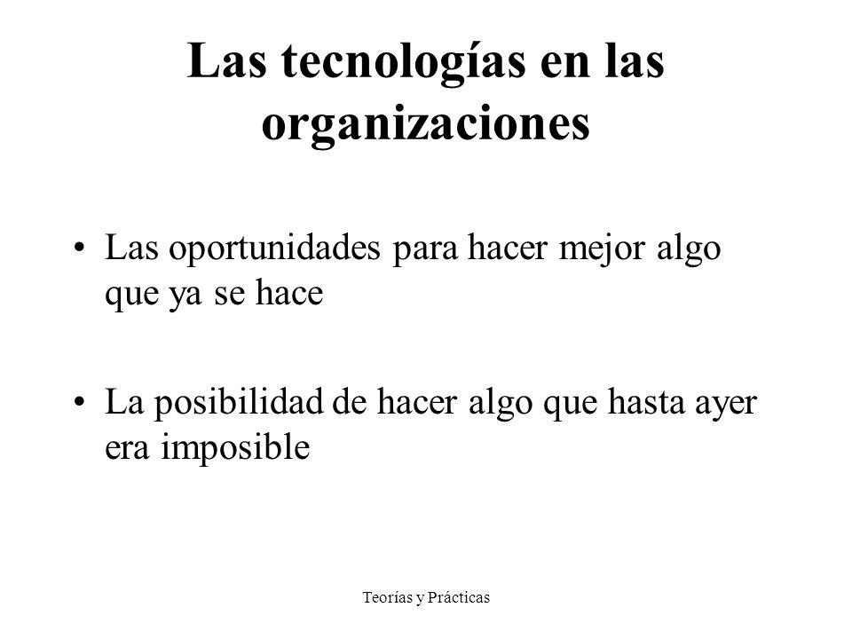 Las tecnologías en las organizaciones