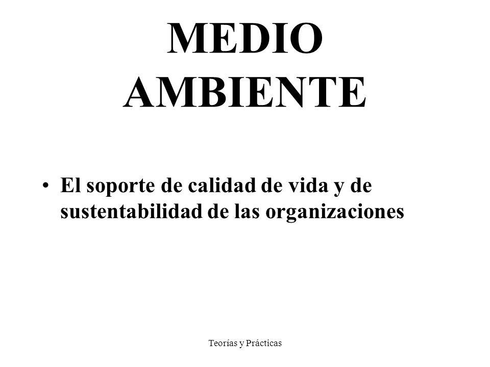MEDIO AMBIENTE El soporte de calidad de vida y de sustentabilidad de las organizaciones.