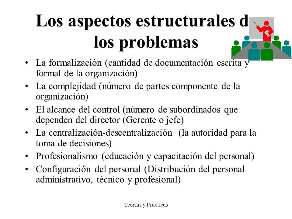 Los aspectos estructurales de los problemas