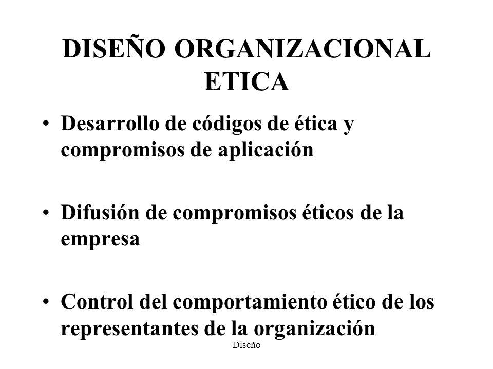 DISEÑO ORGANIZACIONAL ETICA