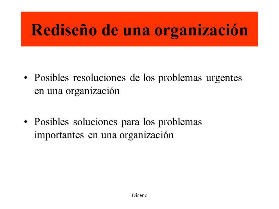 Rediseño de una organización