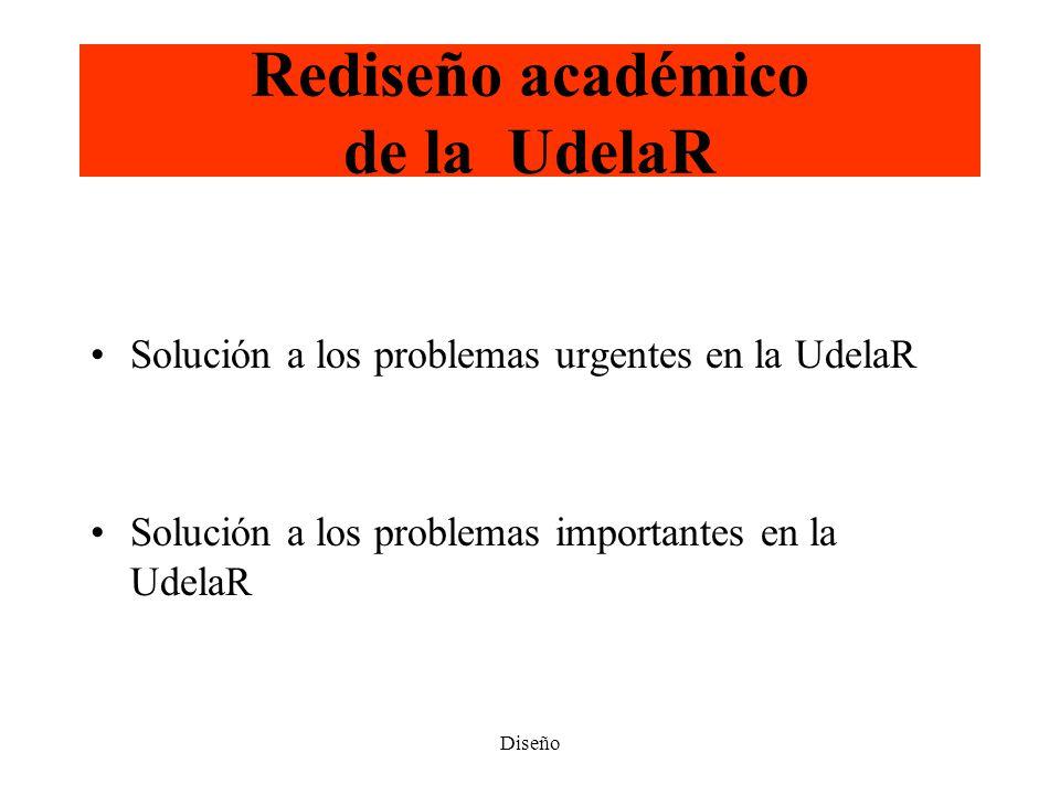 Rediseño académico de la UdelaR