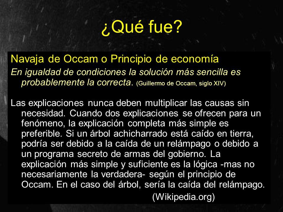 ¿Qué fue Navaja de Occam o Principio de economía