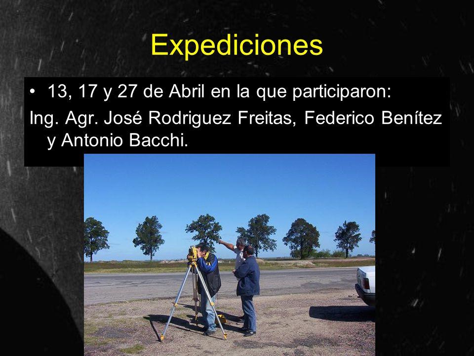Expediciones 13, 17 y 27 de Abril en la que participaron: