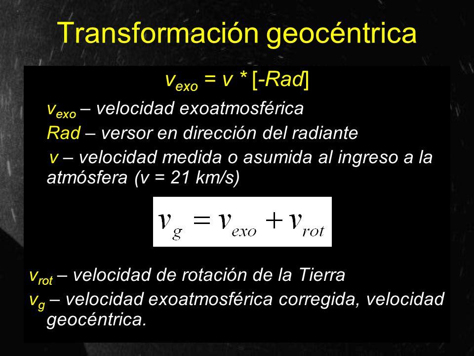 Transformación geocéntrica