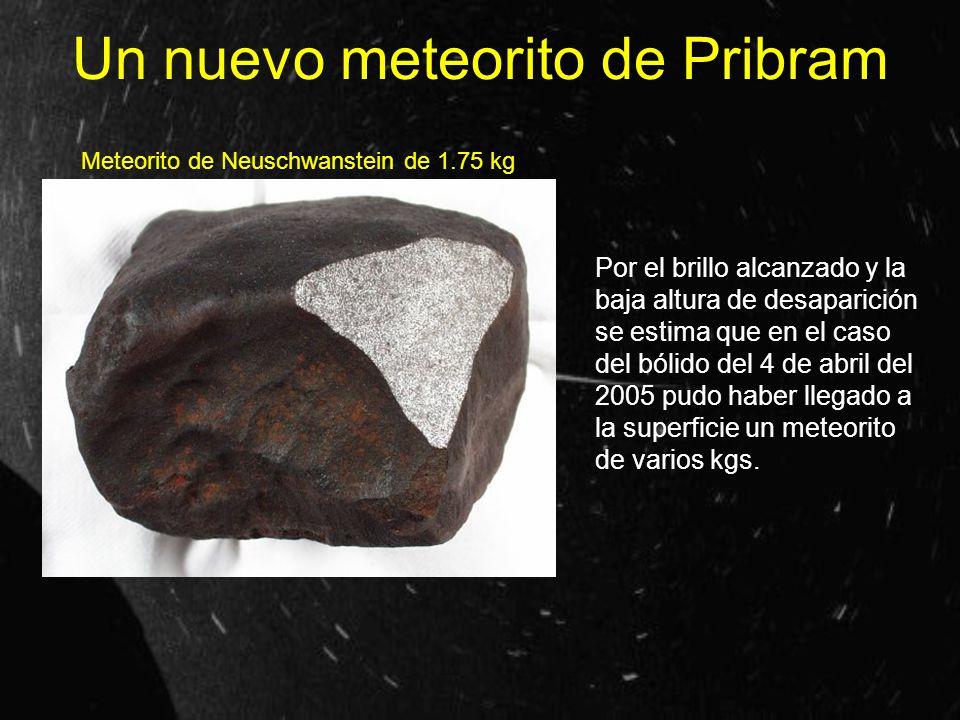 Un nuevo meteorito de Pribram