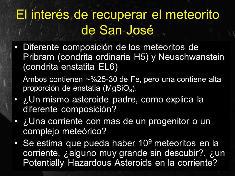 El interés de recuperar el meteorito de San José