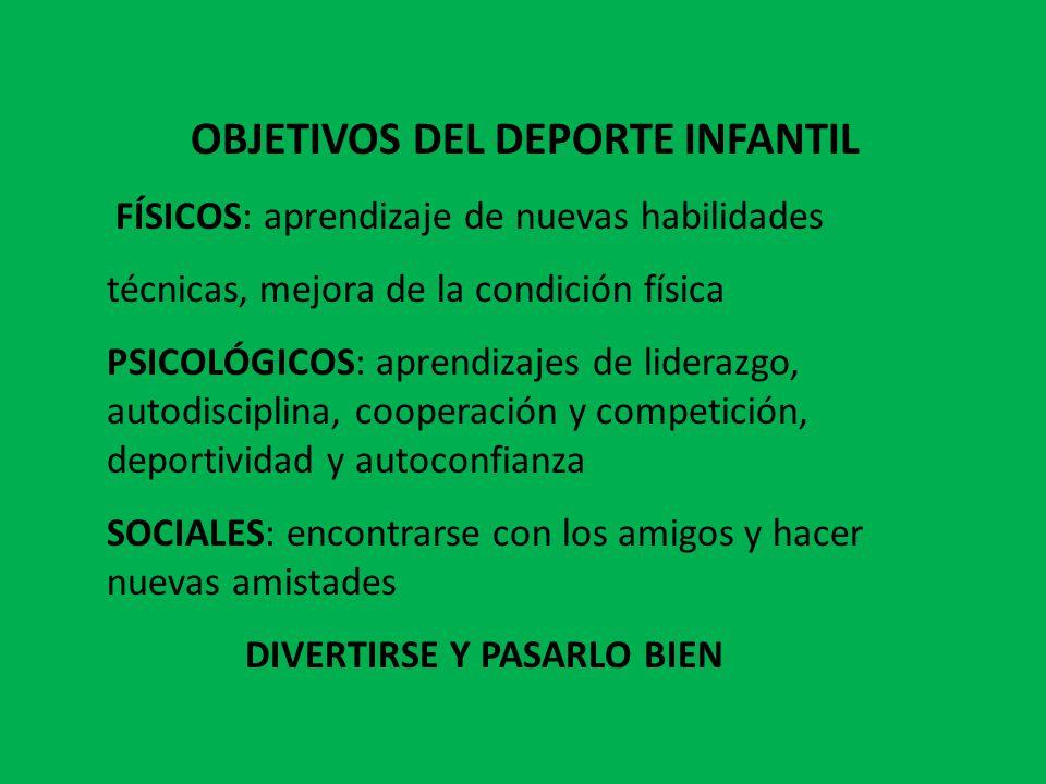 OBJETIVOS DEL DEPORTE INFANTIL