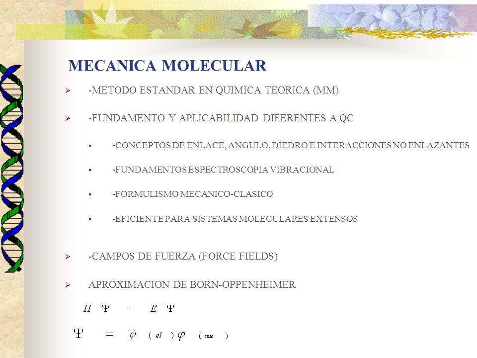 MECANICA MOLECULAR -METODO ESTANDAR EN QUIMICA TEORICA (MM)