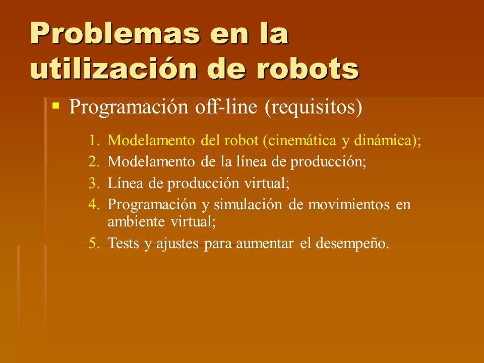 Problemas en la utilización de robots