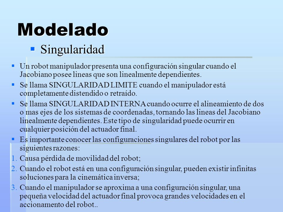 Modelado Singularidad