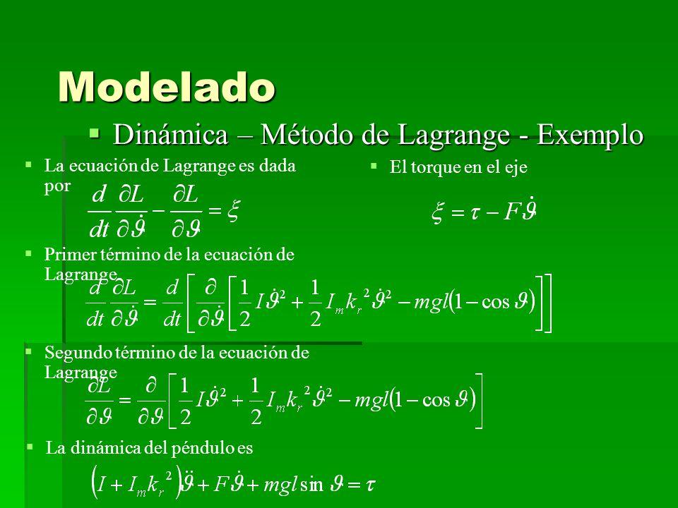 Modelado Dinámica – Método de Lagrange - Exemplo