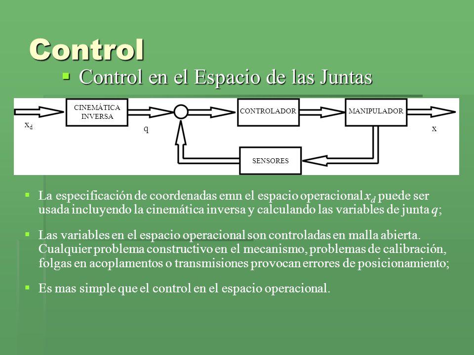 Control Control en el Espacio de las Juntas