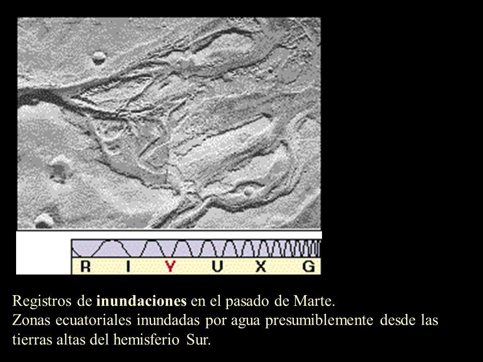 Registros de inundaciones en el pasado de Marte.