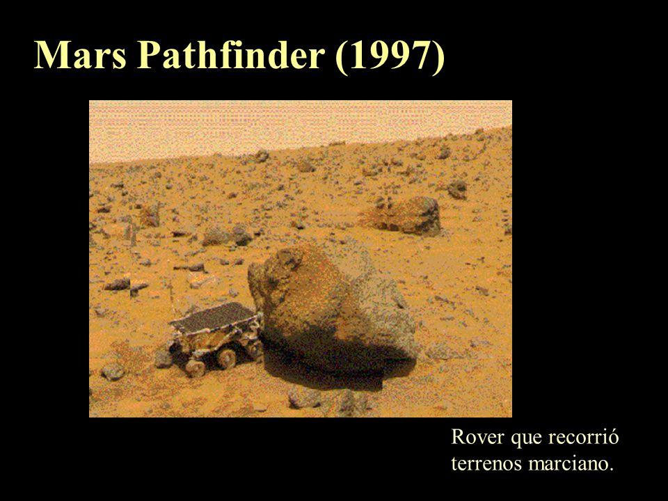 Mars Pathfinder (1997) Rover que recorrió terrenos marciano.
