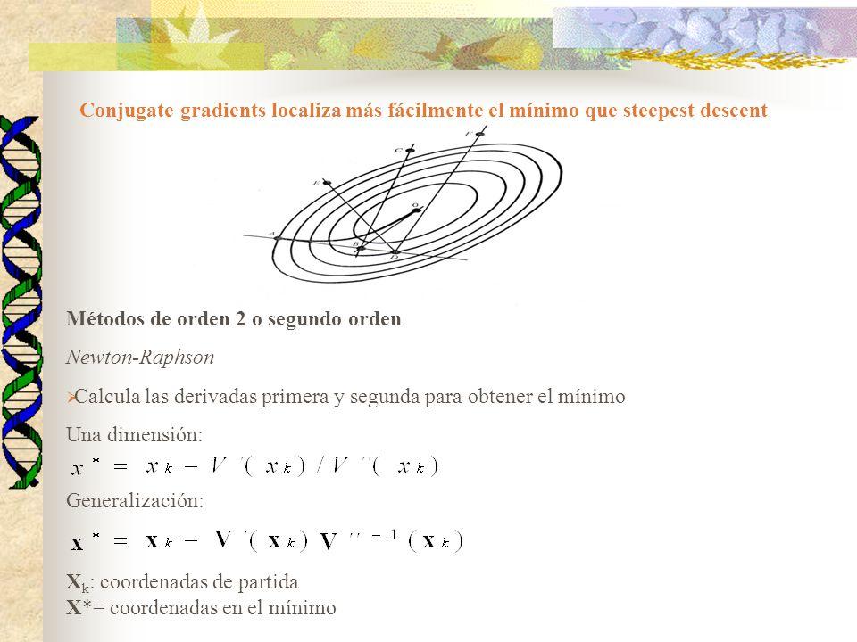 Métodos de orden 2 o segundo orden Newton-Raphson