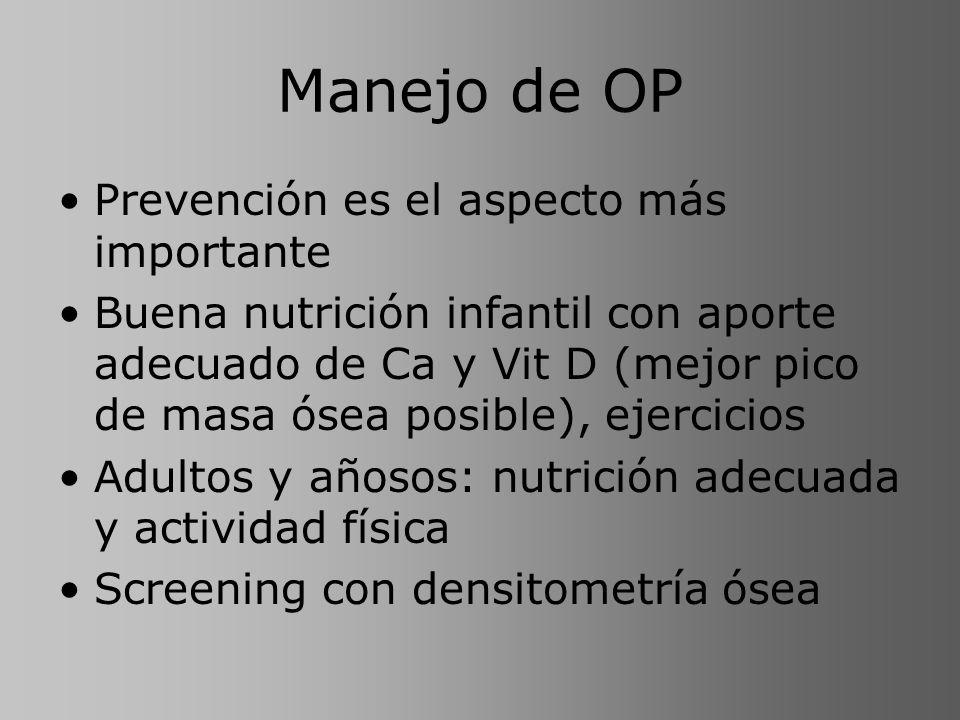 Manejo de OP Prevención es el aspecto más importante