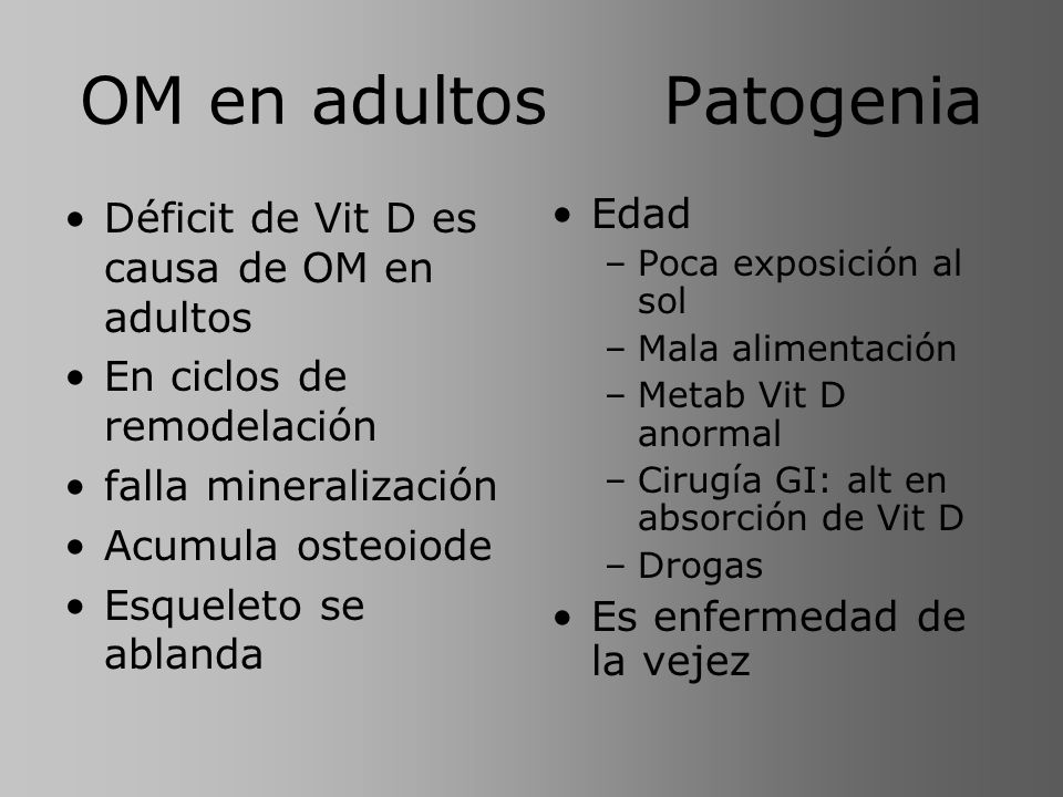OM en adultos Patogenia