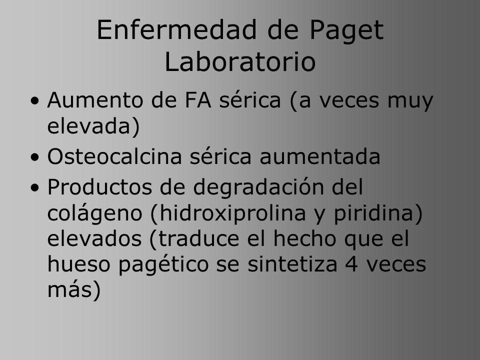 Enfermedad de Paget Laboratorio