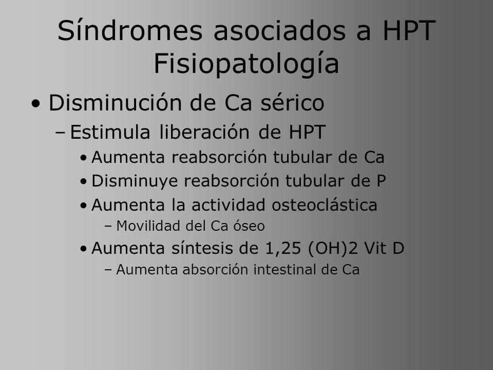 Síndromes asociados a HPT Fisiopatología