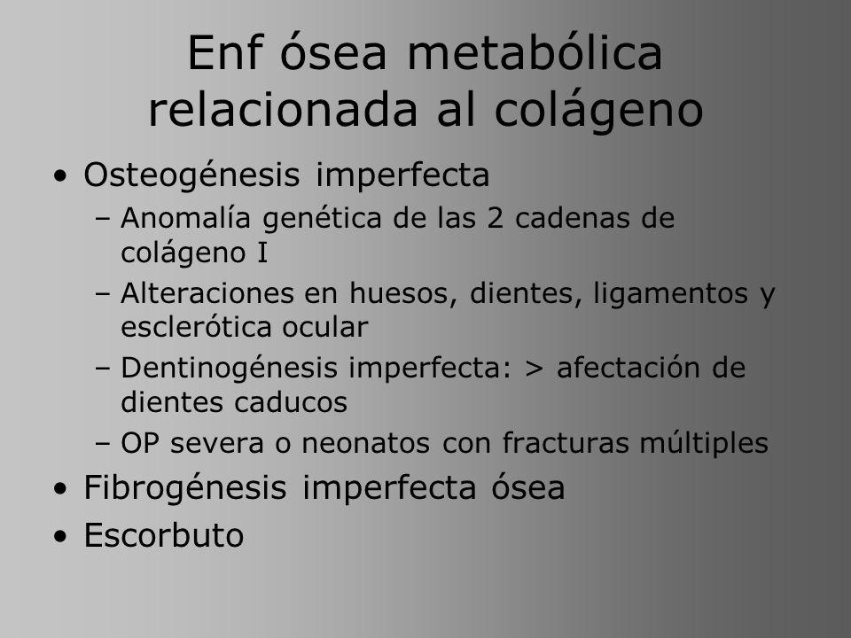 Enf ósea metabólica relacionada al colágeno