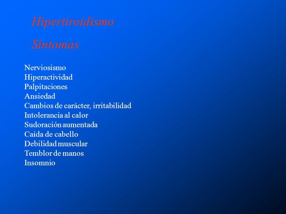 Hipertiroidismo Síntomas Nerviosismo Hiperactividad Palpitaciones