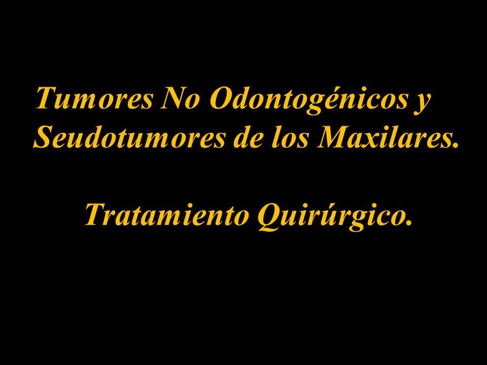 Tumores No Odontogénicos y Seudotumores de los Maxilares